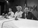 J.B. Stoner, Halstead 'Hoss' Manucy, and Connie Lynch at Press Conference