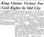 King Claims Victory for Civil...