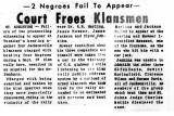 Court Frees Klansmen